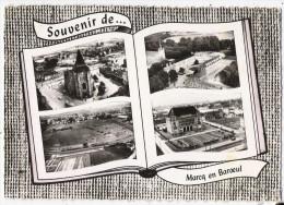 59 - MARCQ EN BAROEUL - CPSM - L'église St Vincent, Le Collège, L'hippodrome Des Flandres, L'Hôtel De Ville - Marcq En Baroeul