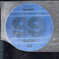Timbre Fiscal - Vignette Automobile 99  - H1 - 1999  Calvados 14 - Fiscaux