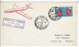 Italy: First Flight, Air France, Milan To Paris, 13 May 1959 - Airplanes