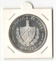 Cuba 10 Pesos 2002 - SILVER (ARGENT) - Olympics 2004 - Runner, Ancient Ruins - Cuba