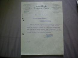 CALAIS  SOCIETE SIMON MAY  COURRIER DU 7 MAI 1936 - France