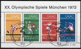 BRD 1972 / MiNr.  Block 8  Sonderstempel Bonn Erstausgabe Originalgummi   O / Used  (c2407) - [7] República Federal