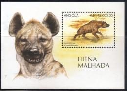 Angola,Animals-Hiena 1996.,block,MNH - Angola
