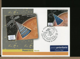 ITALIA - FDC - ASI - AGENZIA SPAZIALE ITALIANA - ESPLORAZIONE MARTE -  SHARAD è Un Radar A Penetrazione Del Sottosuolo - Storia Postale