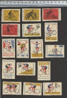 CYCLE-BALL CYCLING BALL CYCLOBAL RADBALL ACROBAT CYCLING CYCLISME ARTISTIQUE TANDEM HISTORY VéLO CYCLIST COUREUR - Cyclisme