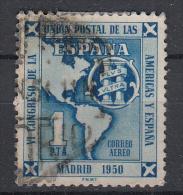 SPANJE - Michel - 1951 - Nr 988 - Gest/Obl/Us - Luftpost