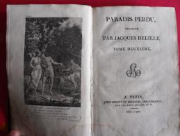 Paradis Perdu. Paradise Lost. John Milton. 1805 (an XIII). T2. édition Bilingue (Trad De Delille) - Poésie