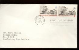 FDC 1973 - Scott 1477 - Cancelled  ATLANTIC CITY - THE POSTING OF A BROADSIDE - WITH 2 STAMPS IN LINE - Premiers Jours (FDC)