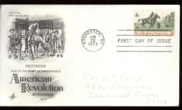 FDC 1973 - Scott 1478 - Cancelled ROCHESTER - POST RIDER - Premiers Jours (FDC)