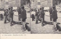 Marseilles 13 - Métiers Pêche Marins Remailleurs De Filets - Carte Stéréoscopique