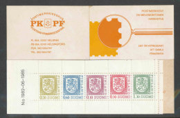 FINLANDE - 1985 - CARNET  YT C942 - Facit HA17 - Neuf ** MNH - Armoiries - Markenheftchen