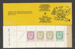 FINLANDE - 1978 - CARNET  YT C790 (I) - Facit HA13  N:o 1729 - Neuf ** MNH - Armoiries - Markenheftchen