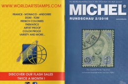 MICHEL Briefmarken Rundschau 2/2016 Neu 6€ New Stamps Of The World Catalogue/magacine Of Germany ISBN 978-3-95402-600-5 - Badges