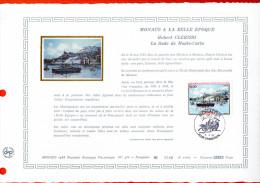 """Document Artistique Philatélique Nté / Soie De 1988 (1000 Ex.) """" LA RADE DE MONTE-CARLO """" N° YT 1643. Parf état. DAP - FDC"""