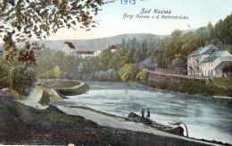 BAD NASSAU  -  BERG - NASSAU V. D. Kettenbrücke -  Janvier 1919 - Altri