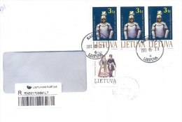 2012. Lithuania, The Letter By Registered Post To Moldova