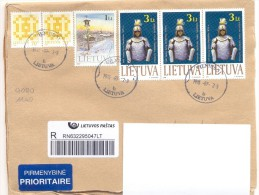 2013. Lithuania, The Letter By Registered Prioritaire Post To Moldova - Lithuania