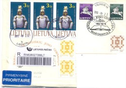 2013. Lithuania, The Letter By Registered Prioritaire Post To Moldova