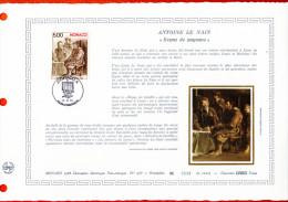 """Document Artistique Philatélique Nté / Soie (1000 Ex.) De 1988 """" ANTOINE LE NAIN """" N° YT 1658. Parfait état. - FDC"""