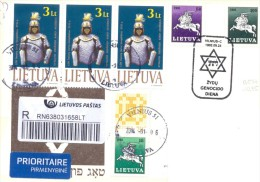 2014. Lithuania, The Letter By Registered Prioritaire Post To Moldova - Lithuania