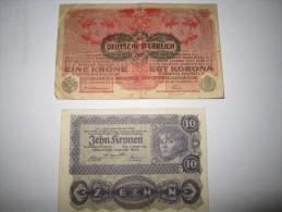 --2 BILLETS  1916--1922---AUTRICHE--HONGRIE---- - Autriche