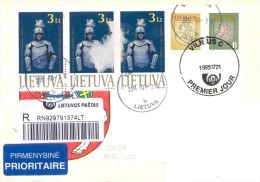 2015. Lithuania, The Letter By Registered Prioritaire Post To Moldova