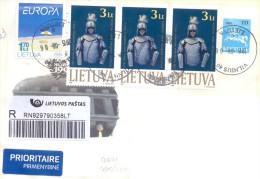 2015. Lithuania, The Letter By Registered Prioritaire Post To Moldova - Lithuania