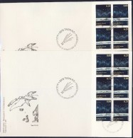 #Q1196. Greenland 2009. EUROPE. 2 Sheetlets (from Booklets) On 2 Covers. Michel 525-26. Size 12 X 18½ Cm. - FDC