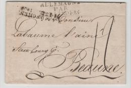 Bay376/  BAYERN - München 1809 Nach Frankreich über Strassburg. Textinhalt Komplett. - Duitsland