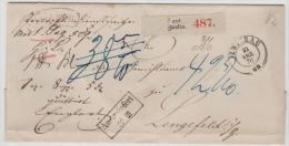 NDP144 / NORDDEUTSCHER POSTBEZIRK - Zwickau Paketbegleitbrief 1870 Nach Lengefeld - Norddeutscher Postbezirk