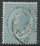 1863-65 REGNO USATO EFFIGIE 15 CENT - U25.9 - 1861-78 Vittorio Emanuele II