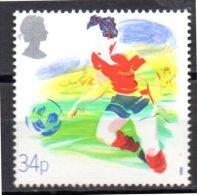 GRANDE BRETAGNE    N °  1310  * * ( Cote 2.25e )  Football Soccer Fussball - Soccer
