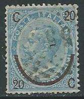 1865 REGNO USATO SOPRASTAMPATO EFFIGIE 20 SU 15 CENT I TIPO - U25.9-4 - 1861-78 Vittorio Emanuele II