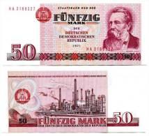 DDR Banknote - 50 Mark Der DDR, Ro. 360 C ( Präfix - FG ) 1971, UNC ! - [ 6] 1949-1990 : RDA - Rep. Dem. Tedesca
