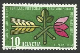Switzerland, 10 C. 1954, Sc # 347, Mi # 593, MH. - Zwitserland