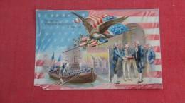 > Patrioti Embossed George Washington Tuck Series Corner Chip Left Bottom=====ref 50 - Patriotiques