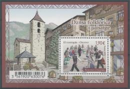 """Andorra (French Adm.), Dance """"El Contrapas"""" In Ordino 2015, MNH VF  Souvenir Sheet Of One - Andorre Français"""