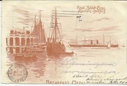 Red Star Line Antwerpen New York  Breakfast Menu   (3121) - Antwerpen