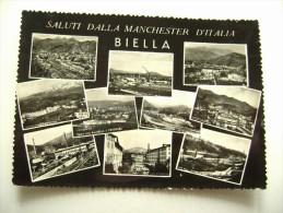 SUL RETRO  AUTOGRAFI FORSE  SQUADRA  SPORT  SALUTI DALLA MANCHESTER  D' ITALIA  BIELLA PIEMONTE  VIAGGIATA  COME DA FOTO - Biella