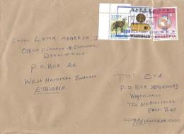 Ethiopia 2012 Bedessa Village Postmark PAPU Post Beehive Cover - Ethiopië