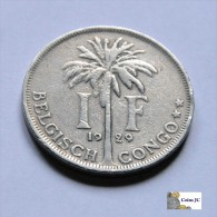 Belgian Congo - 1 Franc - 1929 - 1910-1934: Albert I.