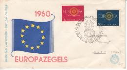 NEDERLAND 1960 FDC MICHEL 753/54 NL CATALOGUS E45 EUROPA - FDC