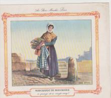 CHROMO IMAGE AU BON MARCHE PARIS . MARCHANDE DE MOUCHOIRS - Au Bon Marché