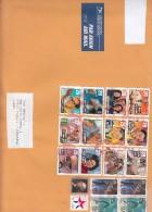 Stati Uniti 2012 - Bustone X L'Italia Affrancato Con 18 Stamps - Briefe U. Dokumente