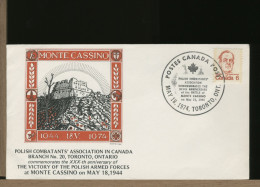 CANADA - POLISH COMBATTANTS Commemorate  VICTORY XXX Anniversary BATTLE Of MONTE CASSINO - WO2