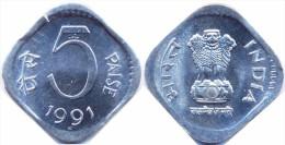 INDIA     5  PAISE   1.991  ALUMINIO  KM#23   SC/UNC    T-DL-11.648 - India