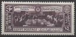 EGYPT 1936 Anglo-Egyptian Treaty - 15m  Nahas Pasha And Treaty Delegates MH - Nuovi