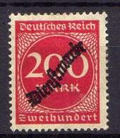 DR Dienstmarken 1923, Mi D 78 * [060316VIII] - Officials
