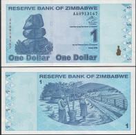 Zimbabwe P 92 - 1 Dollar 2009 - UNC - Zimbabwe