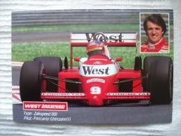 Carte Grand Prix F1 :   PIERCARLO GHINZANI - WEST - ZAKSPEED 881 /  Formula 1 - Grand Prix / F1